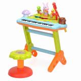 Orga muzicala cu scaunel si orchestra animalutelor - Hola Toys
