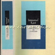 Critica Facultatii De Judecare - Immanuel Kant