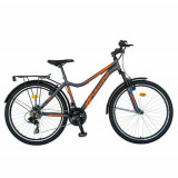 Cumpara ieftin Bicicleta Oras Velors V2433B, roti 24 inch, 18 viteze, cadru 17inch, frane V-Brake (Gri/Portocaliu)