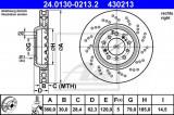 Disc frana BMW Seria 3 (E90) (2005 - 2011) ATE 24.0130-0213.2
