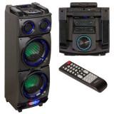 Cumpara ieftin Boxa portabila iluminata Ibiza, 300 W, 12 V, bluetooth, AUX, FM, telecomanda inclusa