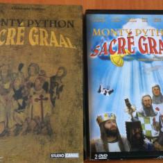 """MONTY PYTHON -""""Sacre Graal """" 1974  CARTE + DUBLU DVD ORIGINAL - Editie Limitata"""