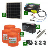 Pachet gard electric cu Panou solar 3,1J putere și 2000m Fir 90Kg cu acumulator