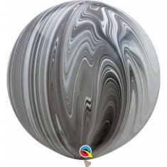 Balon Jumbo Super Agate Black White 75 cm
