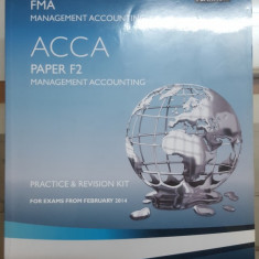 Management Accounting, Practice & Revision Kit, ACCA, Paper F2, 2014