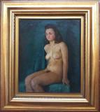 NUD. Tablou vechi, Grigore Manea (1885-?). Ulei/carton.