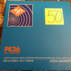 50.Banda Magnetofon AGFA rola policarb.26cm-Clasic (Akai,Teac,Tascam,Revox,BASF)