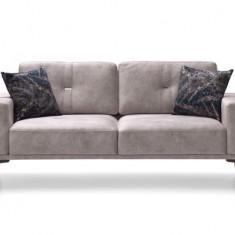 Canapea fixa tapitata cu stofa, 2 locuri Nadia Gri, l192xA86xH81 cm