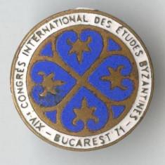 Insigna Congres International Studii Bizantine - Bucuresti 1971