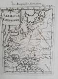 Harta a Sarmatiei Europene, cu reprezentare a Daciei, tiparita in 1719