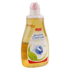 Solutie pentru curatare biberoane si suzete NUK, 380 ml, Galben
