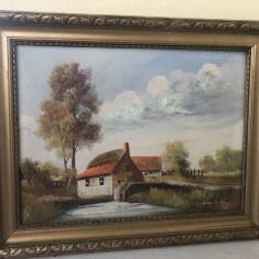 Tablou,pictura veche franceza ,ulei pe panza