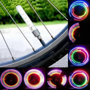Set 2 Lampi LED Colorate Cu Jocuri De Lumini, Pentru Bicicleta