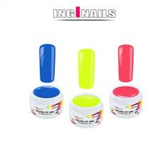 SET Disco: 3bucăți de geluri UV colorate