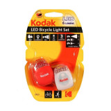 Set lumini avertizare pentru bicicleta, LED, 3 moduri de iluminare, Kodak