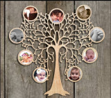 Rama foto copacel cu poze rotunde