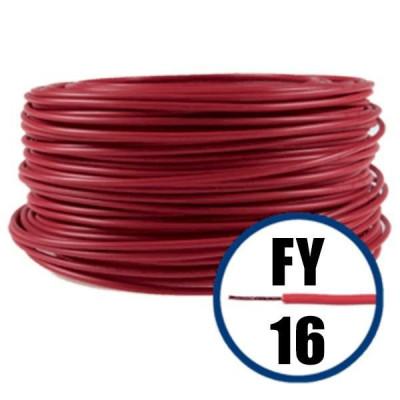 Cablu electric FY 16 – 100 M – H07V-R – rosu foto