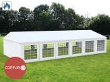 6X12 M CORT EVENIMENTE PROFESIONAL ECONOMY, PVC ignifug 500 g/m² ALB