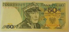 Bancnota 50 Zloti- POLONIA anul 1988 *cod 356 A foto