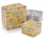 Set 3 cutii cu capac Retro Meadow