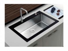 Chiuveta bucatarie CookingAid Hera Tempered Glass 620x480x220mm +Accesorii+Grill foto