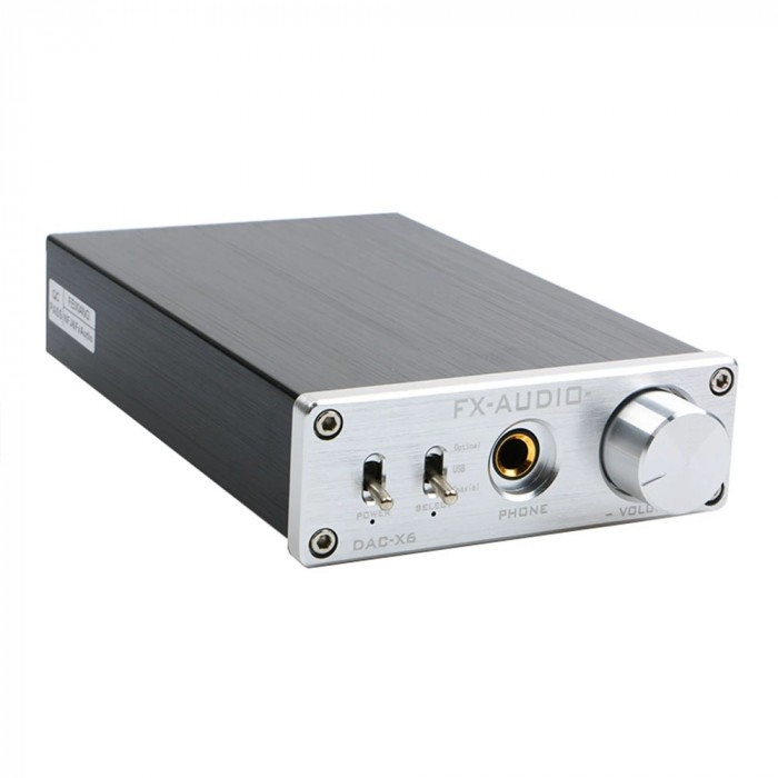 Amplificator 16Bit/192KHz FX-AUDIO DAC-X6 HiFi 2.0 Digital Audio Decoder