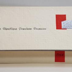 FELICITARE OFICIALA DIN PARTEA ACADEMIEI REPUBLICII POPULARE ROMANE , SEMNATA OLOGRAF DE PRESEDINTELE PREZIDIULUI , IORGU IORDAN , DATATA 1964