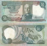 1972 ( 14 XI ) , 50 escudos ( P-100 ) - Angola - stare XF