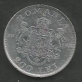 ROMANIA  MIHAI I 200 LEI 1942  Argint 835 / 1000 [9]  VF+  ,   liv in cartonas