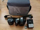 DSLR Nikon D3300 kit 18-55mm geantă, încărcător, card SD Sony 16 GB