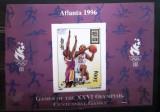 Mongolia 1996  sport  J.O. Atlanta '96 ,  basket,bloc nedantelat mnh, Nestampilat