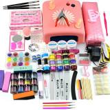Kit Unghii False cu Gel UV - Promotie #18 + CADOU Set 3 Pensule Nail-Art, Fraulein38