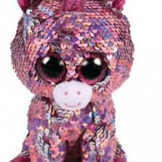Jucarie de plus TY 15 cm Boos unicornul roz cu paiete
