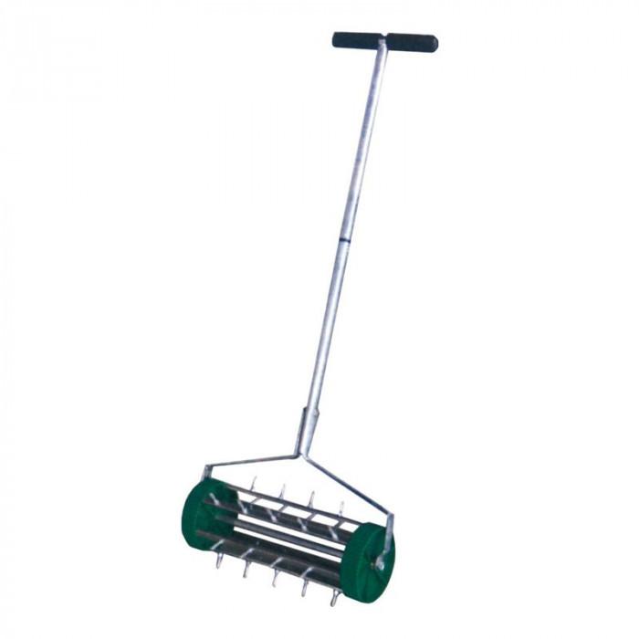 Aerator scarificator gazon T2, manual, carcarsa plastic