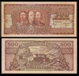 Bancnote Romanesti, bani vechi, 500 lei 1949  XF