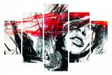 Cumpara ieftin Set tablouri, 5 piese , Wallity , 92x56 cm , Face , Multicolor