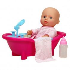 Papusa bebelus Mini Baby, cadita inclusa, 3 ani+