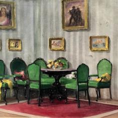 Tablou vechi. MARE 80x60cm+rama. Ul/pz. Brettschneider Károly (1880 - 1940), Scene gen, Ulei, Realism