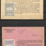 Danemarca  1929 -1930, 2 licente de radio