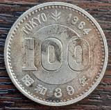 (A270) MONEDA DIN ARGINT JAPONIA - 100 YEN 1964, SHOWA, JOCURILE OLIMPICE TOKYO, Asia