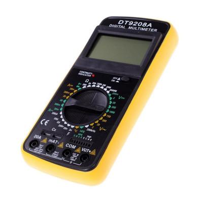 Multimetru digital DT9208A, carcasa antisoc foto