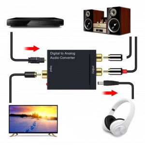 CONVERTOR AUDIO DIGITAL optic toslink tv in to la ANALOG rca jack 3.5 cable pret