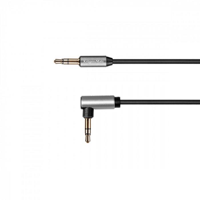 Cablu audio Kruger&Matz Jack 3.5 mm - Jack 3.5 mm 1.8m Black