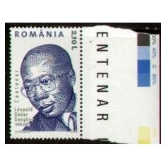 2006 Romania , Lp1714 a - Centenar Leopold Sedar Senghor -MNH, Oameni, Nestampilat