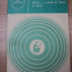 NUTRIA -ANIMAL DE BLANA SI CARNE- I. PETRESCU, BUC. 1982