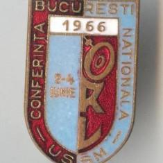 Insigna medicina Conferinta Nationala ORL - Bucuresti 1966 - Rara
