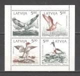 Letonia.1992 Protejarea naturii la Marea Baltica-Pasari  din carnet  SL.99, Nestampilat