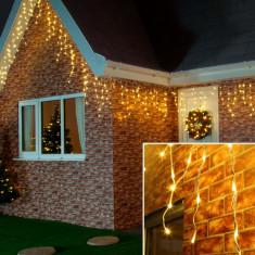 Instalatie de Craciun Flippy® Tip Turturi cu Flash, 4 m, 132 LED-uri, Interconectabila, Alb Cald