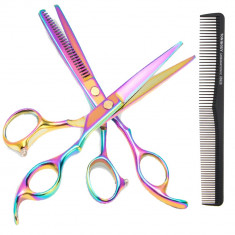 Kit set foarfece foarfeca de filat tuns  profesional frizerie salon coafor multi