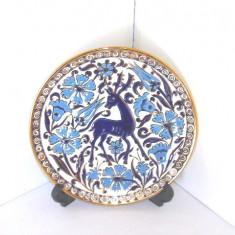Farfurie ceramica cloisonne, hand made - Cerb - Neofitoy Keramik Rodos Grecia